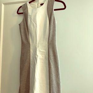 Aqua leather white and gray dress